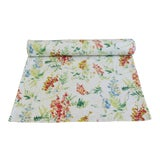 "Image of Custom English Cottage Floral Table Runner 106"" Long For Sale"