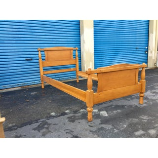 1950s Vintage Twin Maple Bedframe Preview