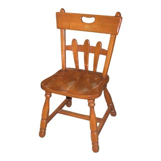 Rustic Maple Country Side / Dining Chair For Sale