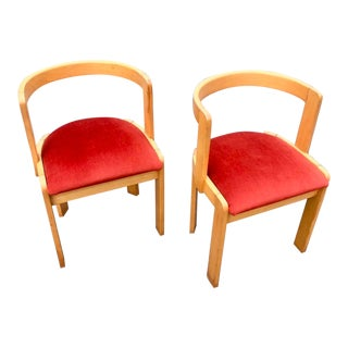 Postmodern Intercontinental Furniture Company Chairs - a Pair For Sale