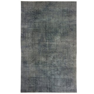 Hand-Knotted Turkish Carpet Overdyed in Slate Grey| 8'3 X 13'5 For Sale