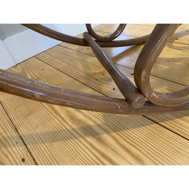 Brown 1970s Vintage Thonet Bentwood Rocking Chair For Sale - Image 8 of 12