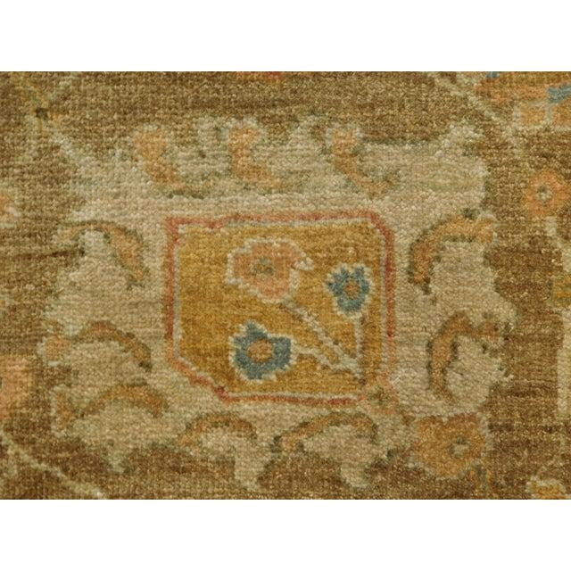 """Hand Knotted Indo-Ushak Floral Design Rug - 8'x 9'8"""" - Image 7 of 10"""