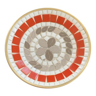 Vintage Mid Century Mosaic Platter Catchall G. Briard Style For Sale