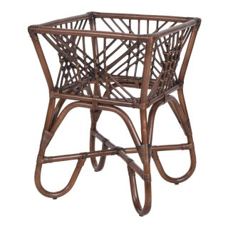 Harper Table Base, Coffee, Rattan For Sale