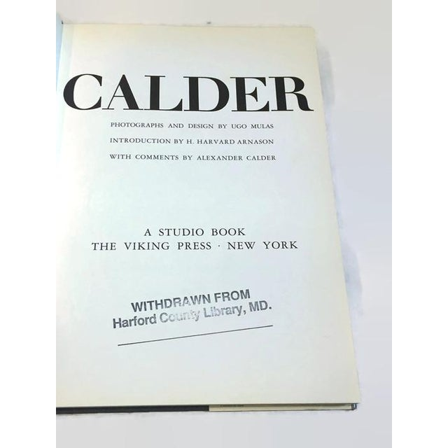 Alexander Calder Mid Century Modern CALDER Coffee Table Book Art Photography Book For Sale - Image 4 of 6