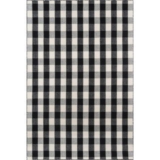 "Madcap Cottage Highland Fling a Scotch Please Black Area Rug 7'9"" X 9'9"" For Sale"