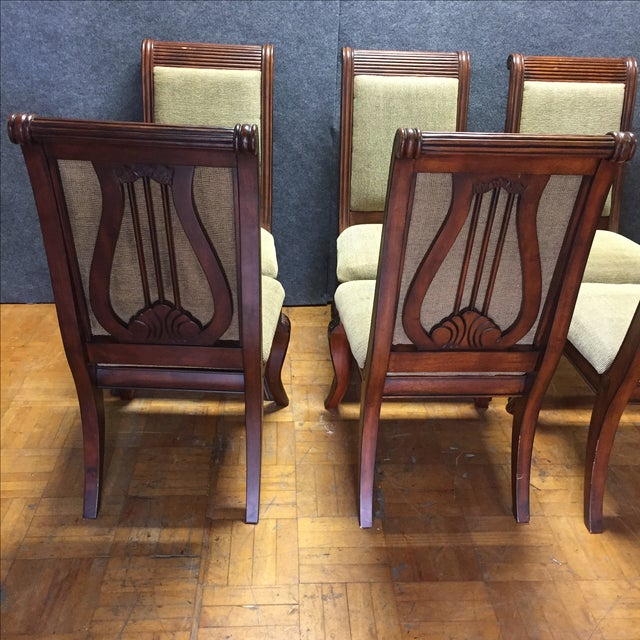Lyre-Back Wooden Dining Chairs - Set of 8 - Image 8 of 11