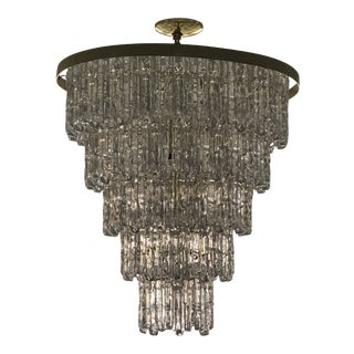 1930s Acrylic Wedding Cake Chandelier For Sale
