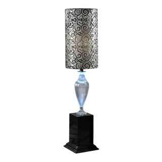 Mid 20th Century Crystal Amphora Floor Lamps For Sale