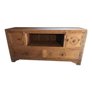 Boho Chic Swati Handmade Entertainment Unit For Sale