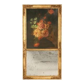 Original Antique French Trumeau Mirror For Sale