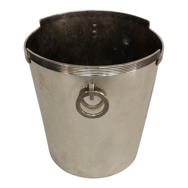 American Art Deco Chrome Plated Champagne Bucket For Sale