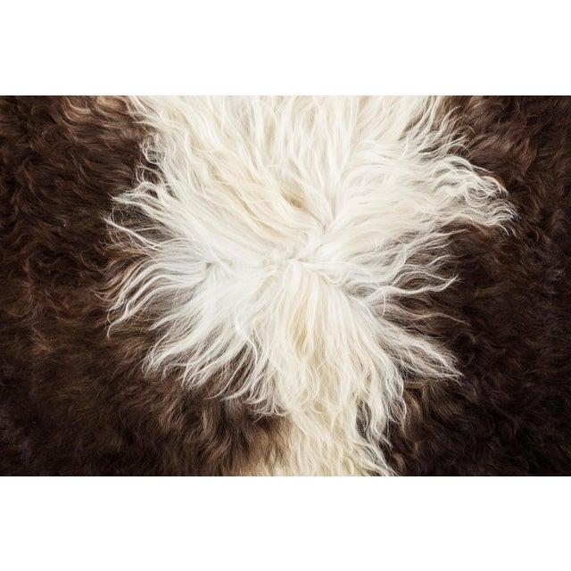 "Contemporary Long Wool Sheepskin Pelt, Handmade Rug - 2'0""x3'0"" For Sale - Image 4 of 6"