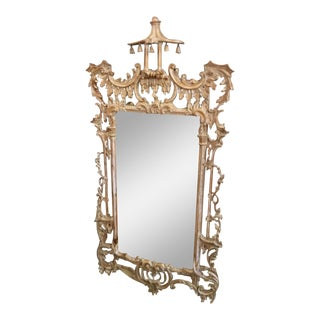 Fine Italian Designer Chinoiserie Carved Regency Mirror