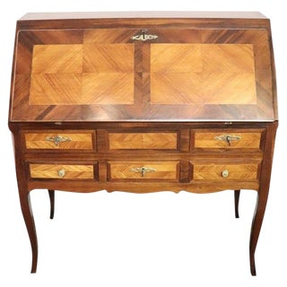 19th Century Italian Antique Louis XV Style Luxury Chest of Drawers With Secretaire For Sale