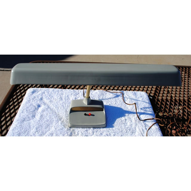 Aluminum 1960s Mid-Century Modern Gray Industrial Gooseneck Desk Lamp For Sale - Image 7 of 7