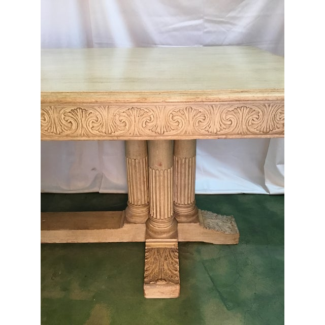 19th C. Carved Bacchus Mahogany Table For Sale - Image 11 of 13