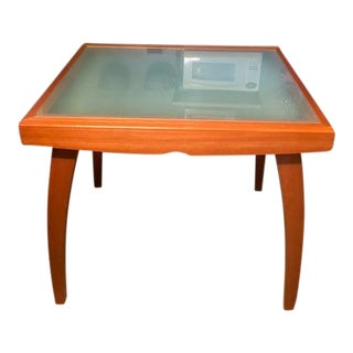 Calligaris Wood / Glass Extendable Dining Table For Sale