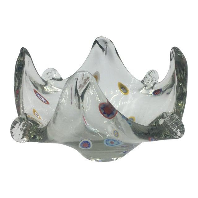 Polka Dot Murano Glass Dish For Sale