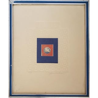 "1970s Intaglio Lithograph by Martin Barooshian, Artist Proof, ""Helios"" Signed & Numbered For Sale"