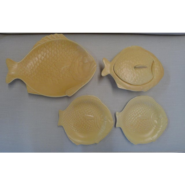 English Earthenware Fish Serving Plates - Set of 4 For Sale - Image 13 of 13