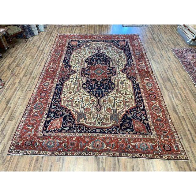 Antique Persian Serapi Heriz Rug- 10′8″ × 16′ For Sale - Image 11 of 11