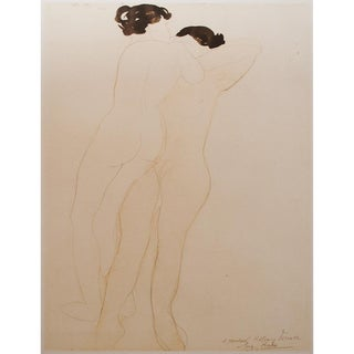 1959 Two Nudes Lithograph Print by Auguste Rodin