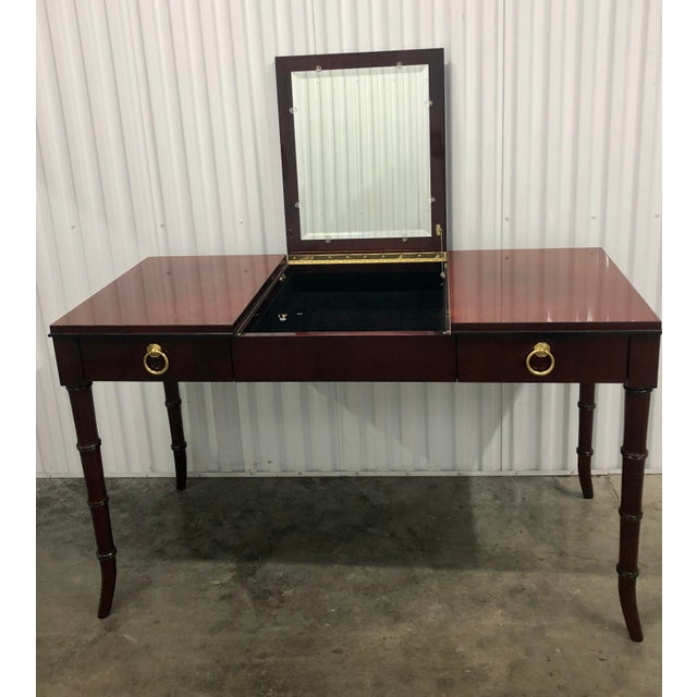 Offered is a vanity table by Kindel Furniture from their Dorothy Draper Collection. Reminiscent of old Hollywood glamour,...