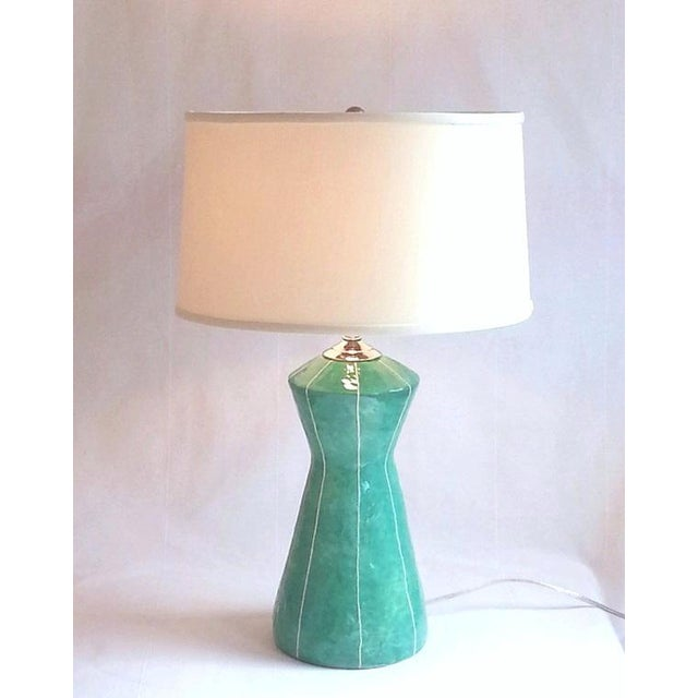 Handmade Turquoise Green Table Lamp by kRI kRI Studio For Sale - Image 4 of 5