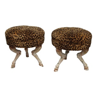 Vintage 20th Century French Stools- a Pair For Sale