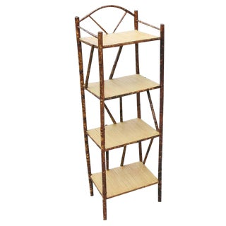 Restored Tiger Bamboo Four-Tier With Top Arch For Sale