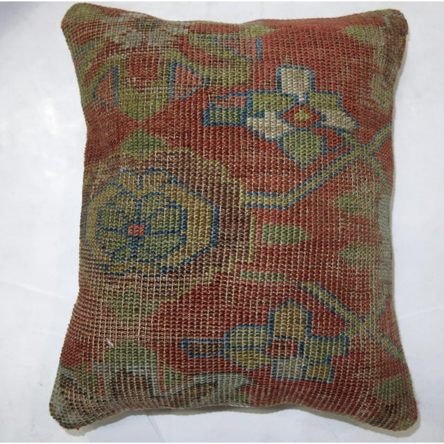 Persian Rug Pillows - a Pair For Sale - Image 4 of 5