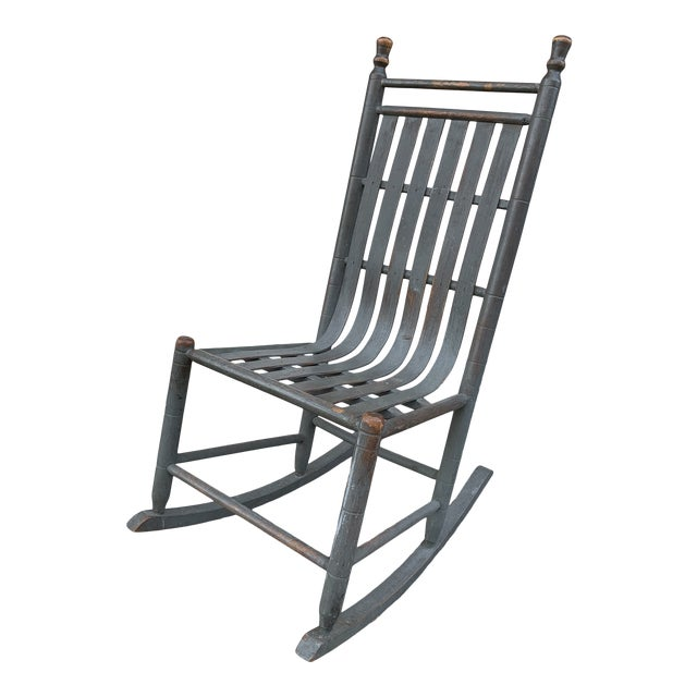 Late 19th Century Painted Bentwood Rocker For Sale