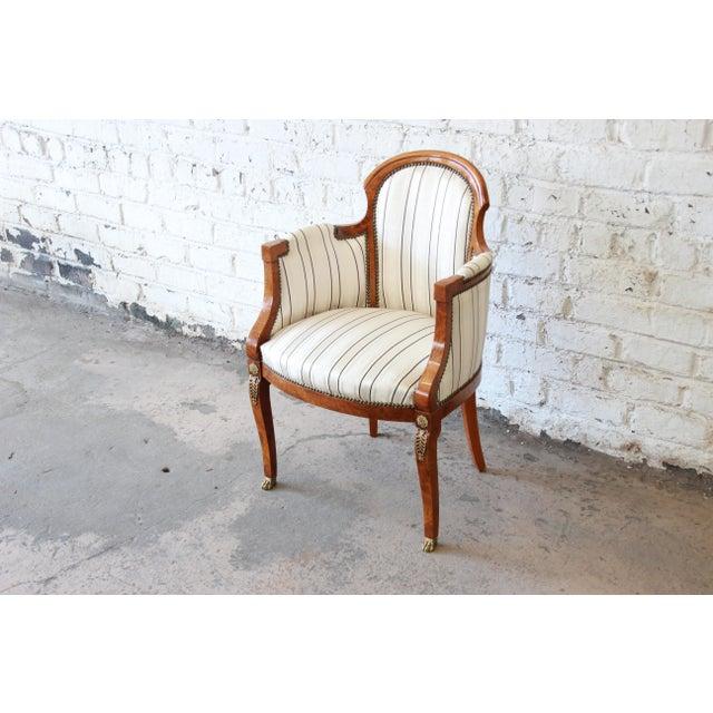 Biedermeier Antique Petite Biedermeier Style Armchair For Sale - Image 3 of 9