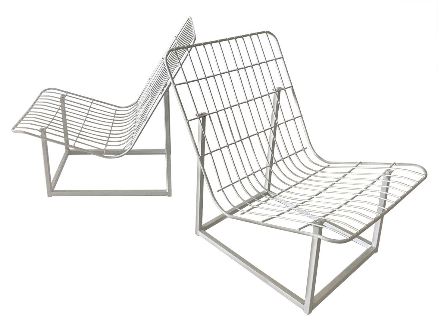 1960s Wire Frame Patio Chairs   A Pair   Image 10 Of 10