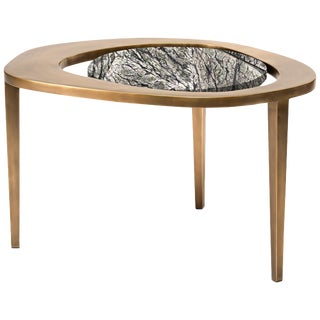 Peacock Nesting Coffee Table in Baguio Stone Bronze-Patina Brass by R&y Augousti For Sale