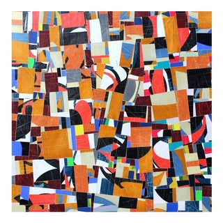 """""""pdp 787"""" Original Collage on Canvas by Cecil Touchon For Sale"""