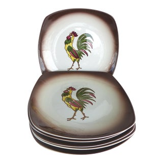 Orchard Ware Rooster Plates - Set of 6 For Sale