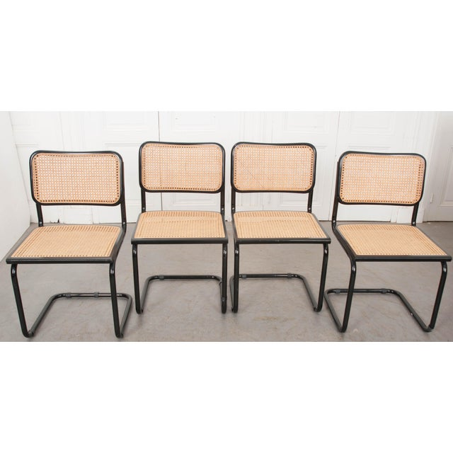 Bauhaus Vintage Bauhaus-Style Steel Side Chairs - Set of 4 For Sale - Image 3 of 10
