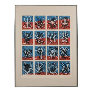 Mid-Century Modernist Screenprint by Jimmy Ernst Untitled For Sale