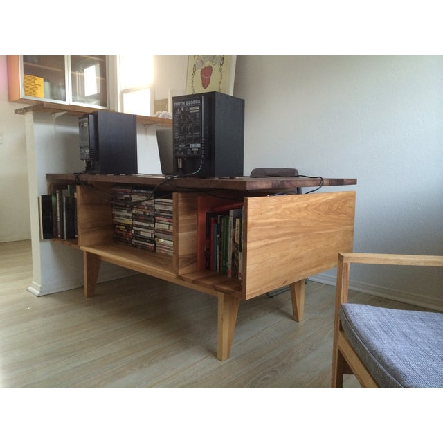 Hand Built Desk With Floating Walnut Top - Image 4 of 9