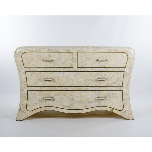 1970s Vintage Maitland-Smith Tessellated Marble Lowboy Dresser For Sale - Image 13 of 13