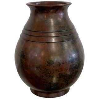 Japanese Modern Bronze Vase For Sale