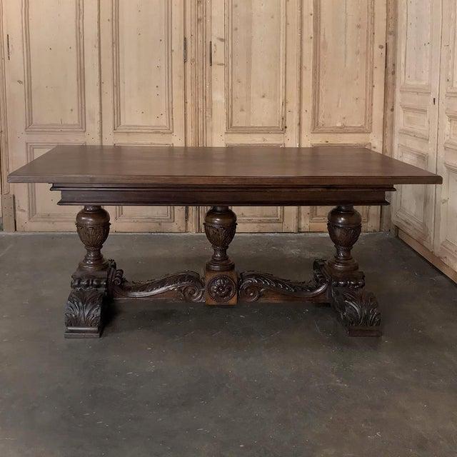 19th Century Italian Walnut Renaissance Table ~ Desk For Sale - Image 12 of 13