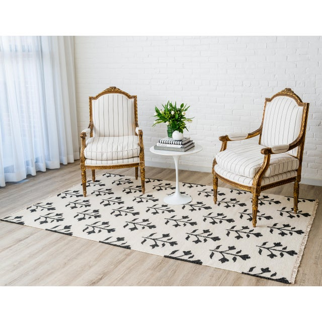 "Erin Gates Thompson Grove Ivory Hand Woven Wool Area Rug 3'6"" X 5'6"" For Sale - Image 4 of 5"