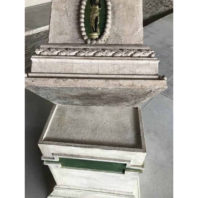 20th Century Conservatory Neoclassical Polychrome Monumental Gesso Planter For Sale - Image 6 of 12