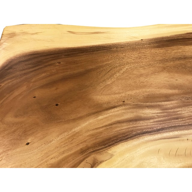Live Edge Solid Slab Acacia Wood Dining Table - Image 3 of 11