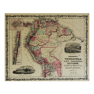 Vintage South America Map