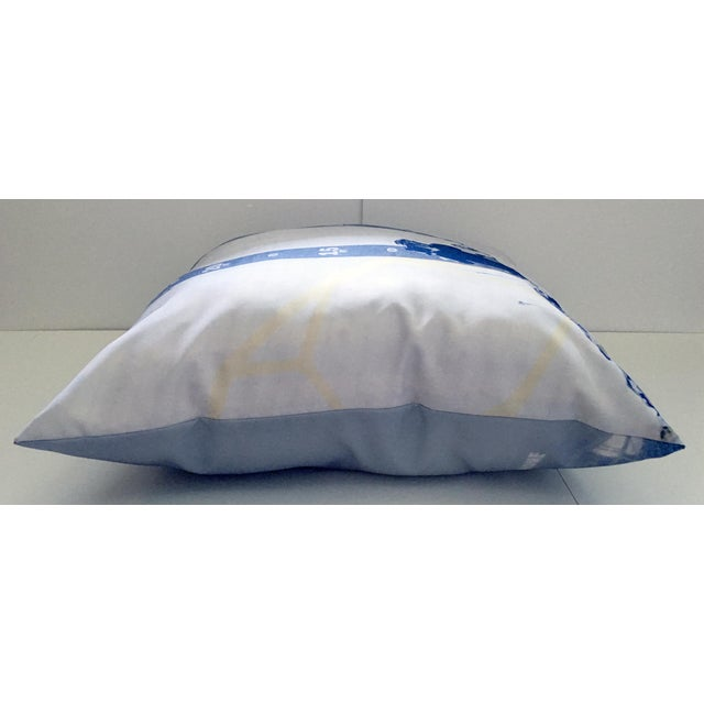 Blue & White Photorealism Pillow For Sale In New York - Image 6 of 7